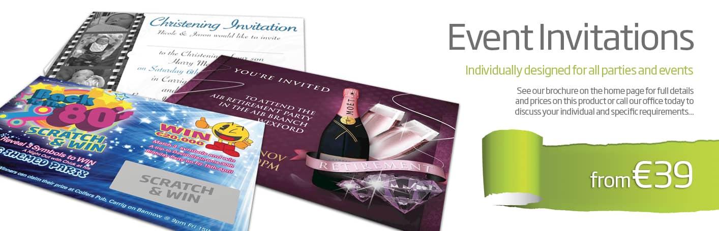 invitation design and printing Wexford - Diskin Design