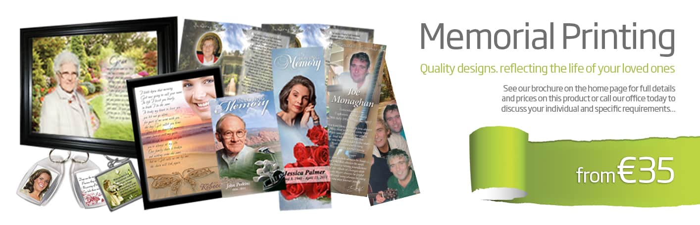 memorial card printing wexford - Diskin Design