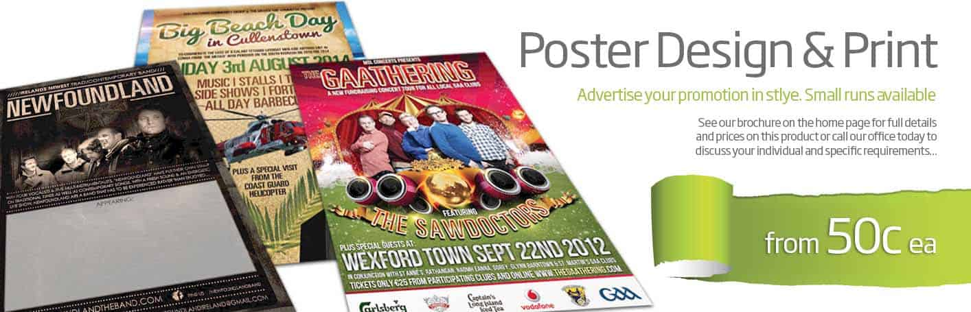 Poster Design & Printing Wexford