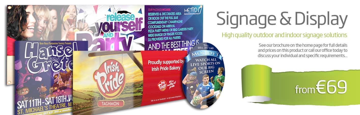 signage printing wexford