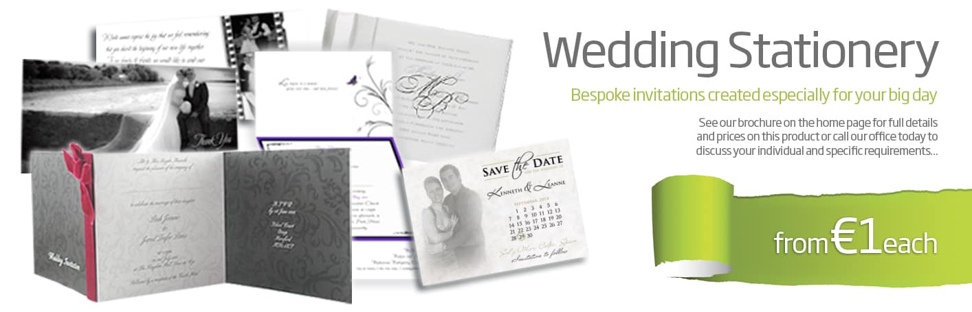 wedding stationery design and printing wexford